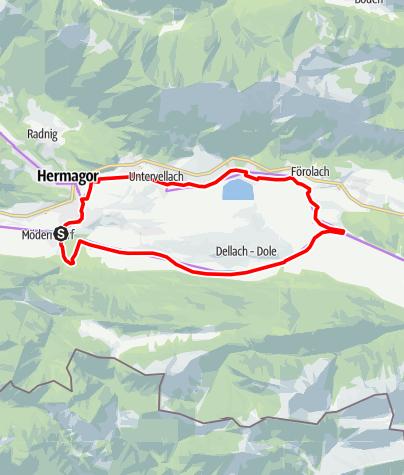 Karte / Gailtal Radweg R3a