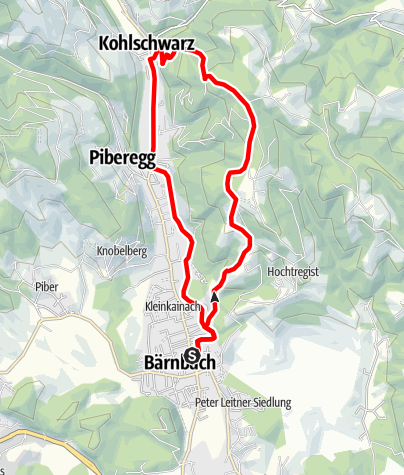 Karte / Höhenwanderung Hochtregister Berg