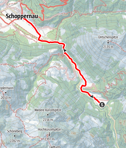 Karte / Au-Schoppernau | Franz Michael Felderweg