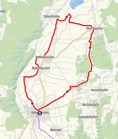 Karte / Babenhausens Norden