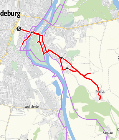 Karte / Magdeburg radelnd erobern