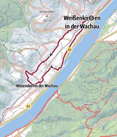Karte / Wachau Weißenkirchen Joching