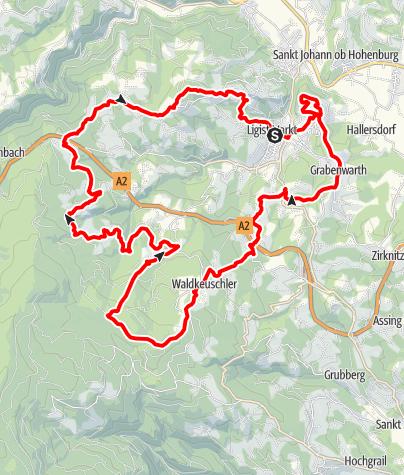 Karte / Ligister Rundweg lang
