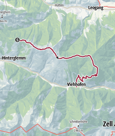 Karte / Saalachtaler Höhenweg