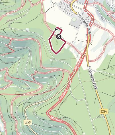 Karte / Adventure Finnenbahn Seewald Besenfeld