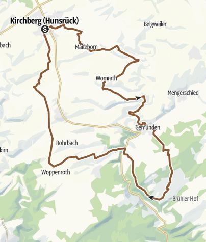 Karte / Kirchberger Rad-Aktiv-Route