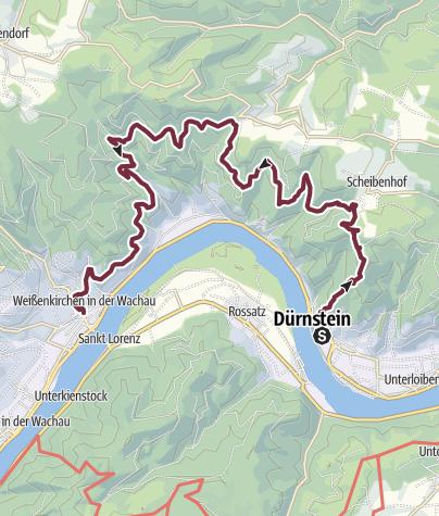 Karte / Welterbesteig Wachau 02: Dürnstein-Weißenkirchen