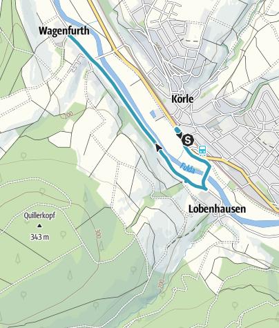 Map / Von Körle über Lobenhausen nach Wagenfurth