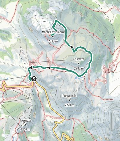 Cartina / Trekking del Cristo Pensante
