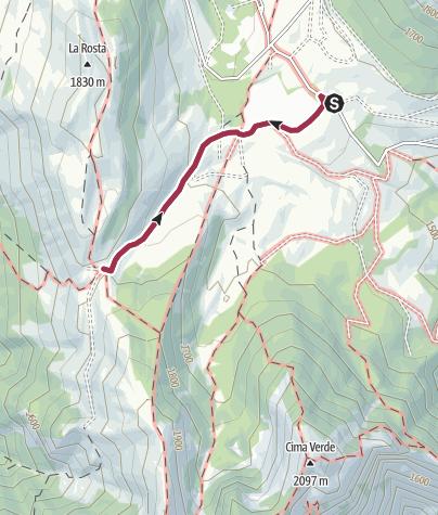Cartina / Viote del Bondone – Bocca di Vaiona