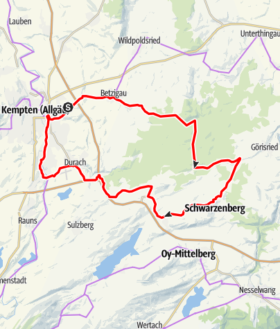 Karte / Den Kemptener Wald erleben