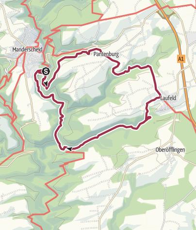 Map / Vulkaneifel-Pfad: Grafschaft-Pfad (Rundtour) (Manderscheid)