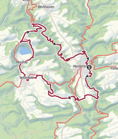 Carte / Vulkaneifel-Pfad: VulkaMaar-Pfad (2-Tages-Tour): Manderscheid-Meerfeld-Manderscheid