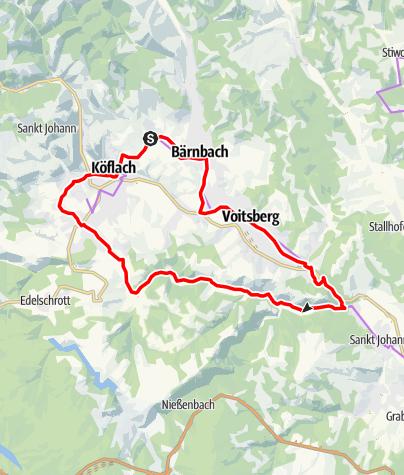 Karte / Lipizzaner Tour Variante 2