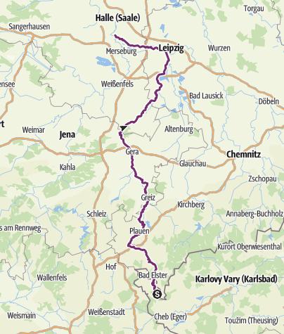 Karte / Elsterradweg