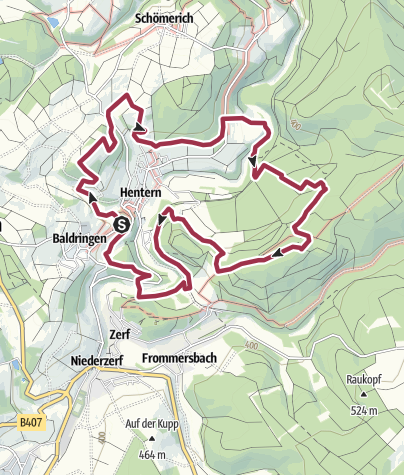 Karte / Traumschleife Ruwer-Hochwald Schleife