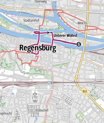 Karte Regensburg Altstadt.Rundgang Durch Die Regensburger Altstadt Stadtrundgang