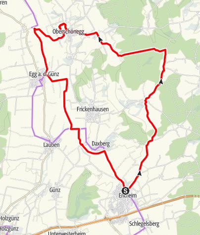 Karte / Erkheim - Oberschönegg