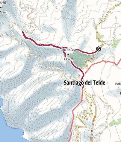 Karte / Teneriffa Süd Gockenblumenweg