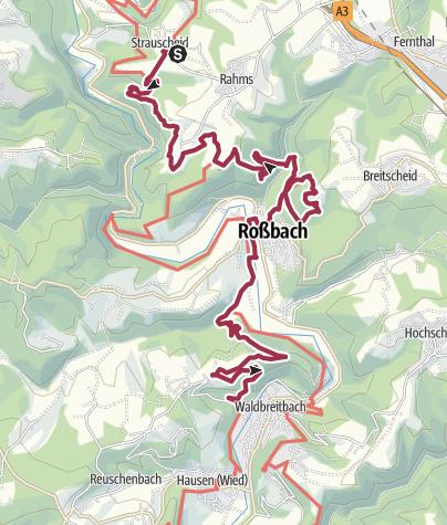 Karte / WesterwaldSteig  15. Etappe Strauscheid - Waldbreitbach (Ost-West)
