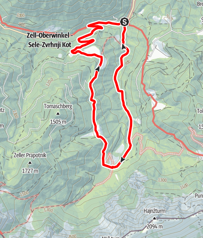 Karte / Wassererlebnisweg Hainschgraben