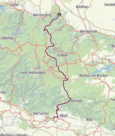Karte / Harzer Grenzweg