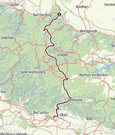 Ddr Grenze Karte Harz.Harzer Grenzweg Fernwanderweg Outdooractive Com
