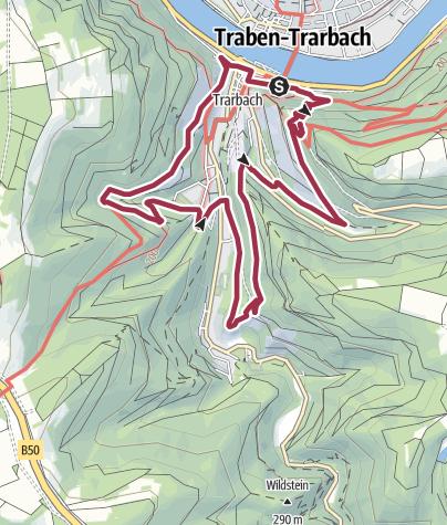 Karte / T 1 - Drei-Berge-Rund-Tour