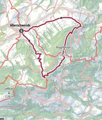 Karte / Alberschwende – Brüggelekopf