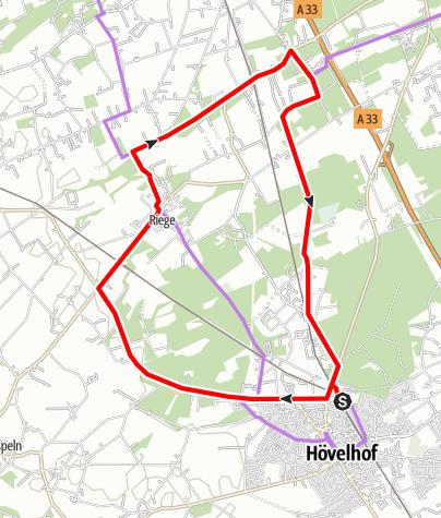 Karte / Hö 6 - Tour durch Riege und Hövelriege