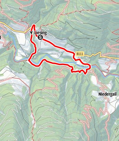 Karte / Gailwanderung Liesing