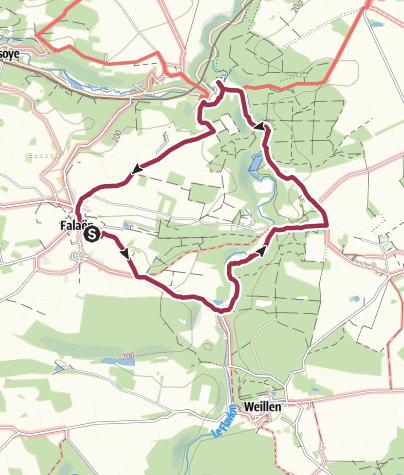 Karte / Burg und Tal – von Falaën zur Ruine von Montaigle