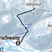 מפה / Skitour von Balderschwang auf den Siplingerkopf