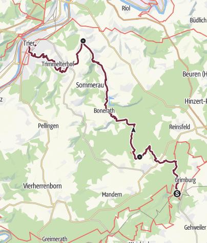 Map / Saar-Hunsrück-Steig: Variante von Kell am See bis Trier