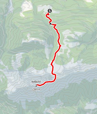 Karte / Reißkofel - Comptonhütte