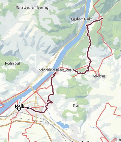 Wachau Karte Donau.Welterbesteig Wachau 09 Melk Aggsbach Dorf Fernwanderweg