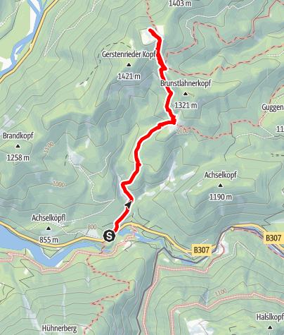 Karte / Bergtour vom Sylvensteinsee zur Hochalm