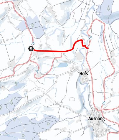 Karte / zu 19 Loipenverbindung Hofser Loipe - Moosmühle-Loipe