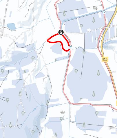 Karte / Westlich von Stötten bis zum Torfwerk (St 1) Erweiterung