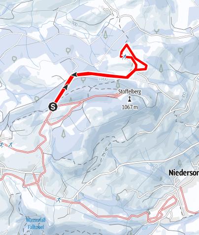 Karte / Stoffelbergloipe Zusatzrunde (W 2)