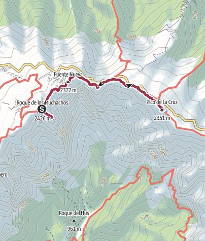 Karte / Zum Pico de la Cruz