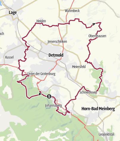 Map / Residenzweg- Idyllischer Rundweg um die Kulturstadt Detmold