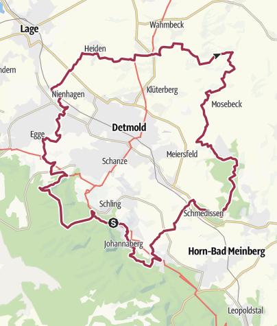 Kaart / Residenzweg- Idyllischer Rundweg um die Kulturstadt Detmold