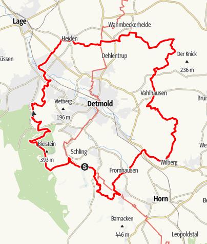 Karte / Residenzweg- Idyllischer Rundweg um die Kulturstadt Detmold