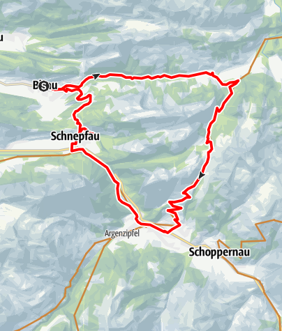 Map / Bizau | Around the Mittagsfluh