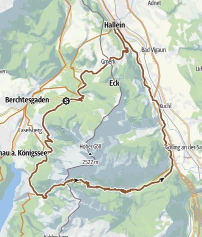 Karte / MTB: 03 - Rund um den Hohen Göll