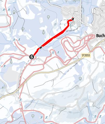 Karte / Loipenanschluss Buchenberg Sommerau - Panoramaloipe / Donau-Rhein-Loipe
