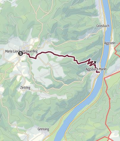 Map / Wachau World Heritage Trail 06: Maria Laach - Aggsbach Markt