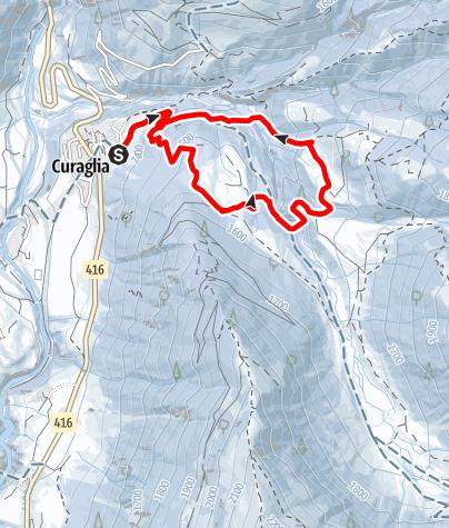 Map / Curaglia - Biscuolm Rundtour