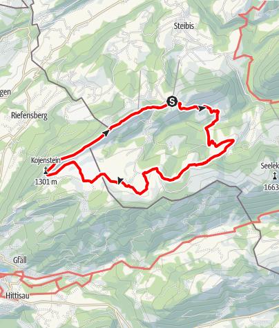 Karte / Premiumwanderweg Alpenfreiheit